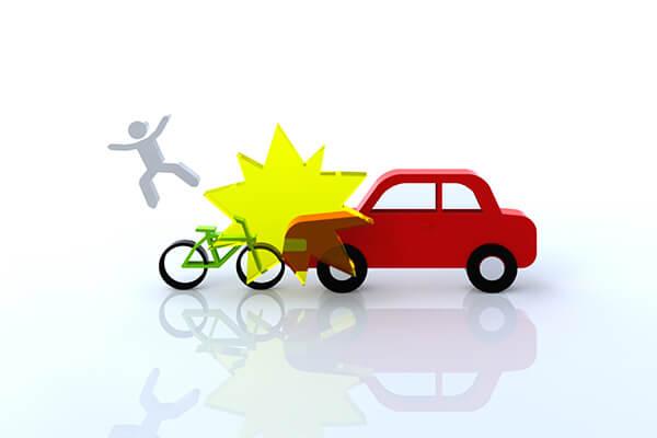 弁護士特約は車対自転車の事故にも利用できます。