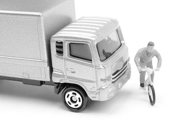 業務中の交通事故でトラック対自転車の場合